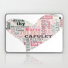 Shakespeare's Romeo and Juliet Heart Laptop & iPad Skin