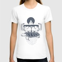 The Flat Earth Womens Fitted Tee White SMALL