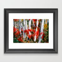 Vermont Fall Autumn Tree… Framed Art Print