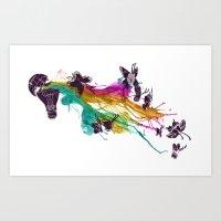Follow the Colors Art Print
