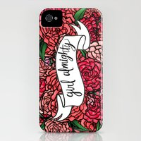 iPhone 4s & iPhone 4 Cases featuring girl almighty by girlwiththetea