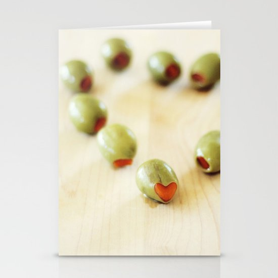Olive You Stationery Card