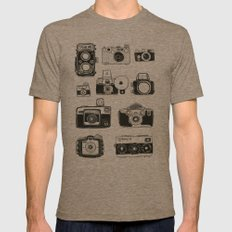 Vintage Cameras Mens Fitted Tee Tri-Coffee SMALL