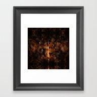 Gold Beam In Geometric S… Framed Art Print
