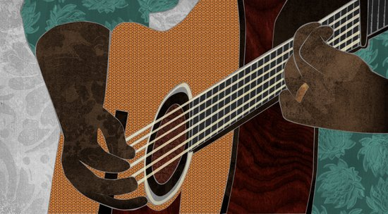Acoustic Electric Guitar Art Print