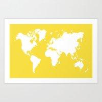 Map 4x6 Art Print