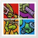 Lichtenstein Pop Martial Art Chelonians Set Art Print