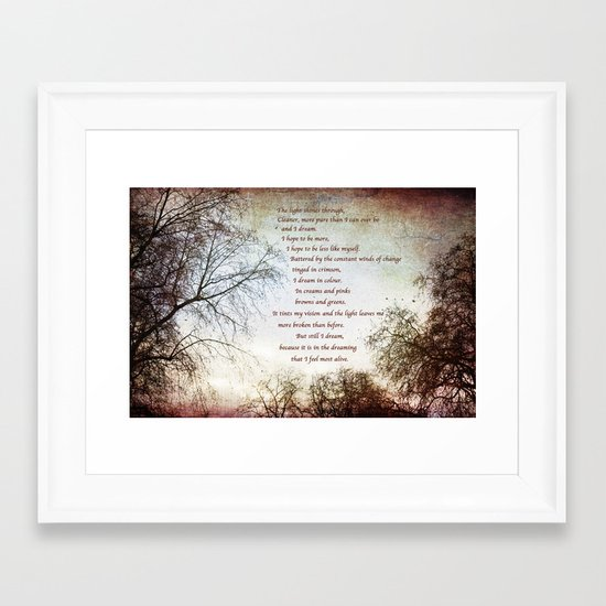 Look Up and The Dreaming Framed Art Print