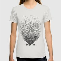 Thorny hedgehog Womens Fitted Tee Silver SMALL