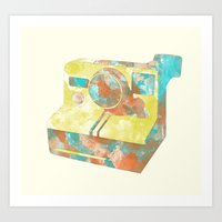 Polaroid Ink Art Print