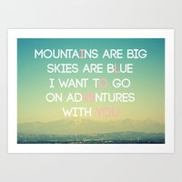 Adventures And I Love Yo… Art Print