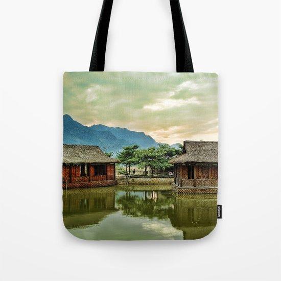 Water Huts Tote Bag