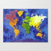 The World Canvas Print