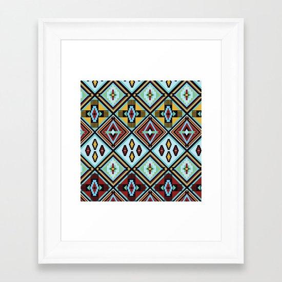NATIVE AMERICAN PRINT Framed Art Print