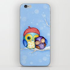 Owl in a Little Red Beret iPhone & iPod Skin