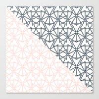 Black And Pink Crop Symm… Canvas Print
