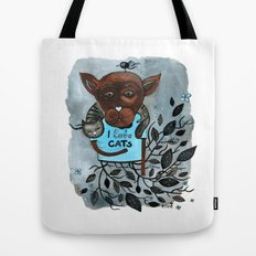 Mr. Boxer is in love with Cats Tote Bag