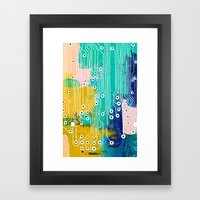 Chip Abstract Framed Art Print