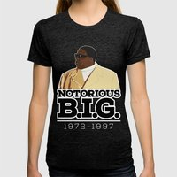 Christopher 'Notorious B.I.G.' Wallace Womens Fitted Tee Tri-Black SMALL