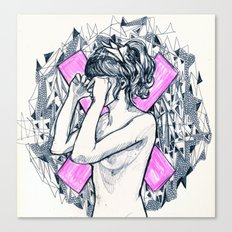ex girl to next girl Canvas Print