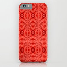 Coral Red Flower Cross Slim Case iPhone 6s