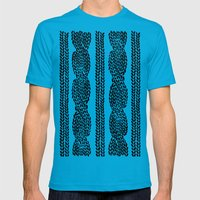 Cable Row Mens Fitted Tee Teal SMALL