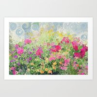 Dreamy Confetti Flower B… Art Print