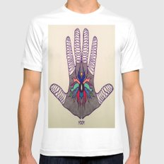 Hand Of Happiness  SMALL White Mens Fitted Tee