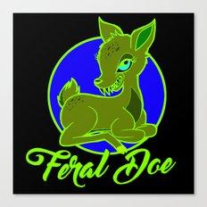 My Feral Doe Logo Canvas Print