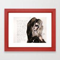 Heaven Knows Lyrics Framed Art Print