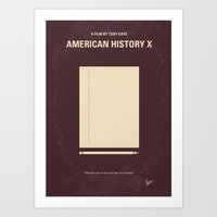 No247 My AMERICAN HISTORY X minimal movie poster Art Print