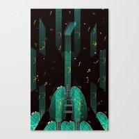 breathing music tonight Canvas Print