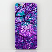 purple tree II iPhone & iPod Skin