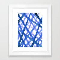 Criss Cross Blue Framed Art Print