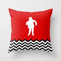 Black Lodge Dreams: Man From Another Place (Twin Peaks) Throw Pillow