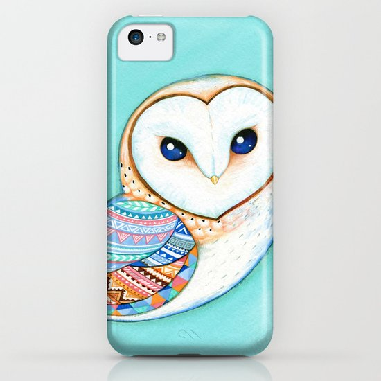 Tribal Pattern Barn Owl iPhone & iPod Case