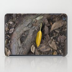lone yellow leaf  iPad Case