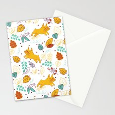Frenchie Pattern Stationery Cards