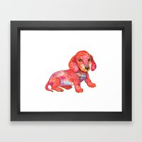 Mini Dachshund  Framed Art Print