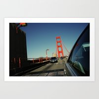 Golden Gate Bridge; Mid-… Art Print