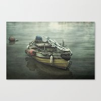 Moored For The Night Canvas Print