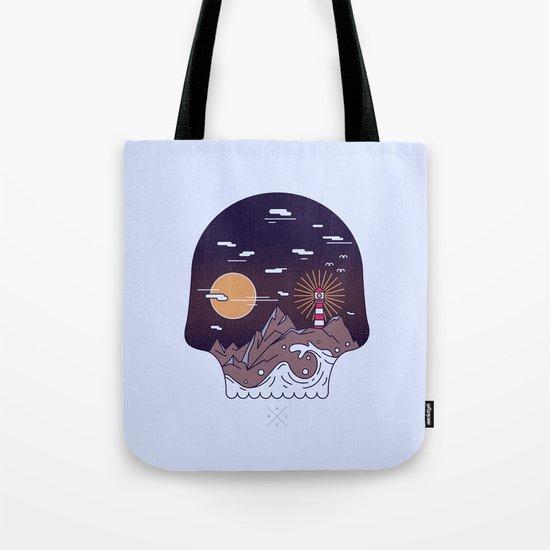 Skull Pier Tote Bag