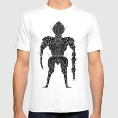 the zendorian  White SMALL Mens Fitted Tee