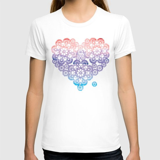 Crocheting T Shirts : Crochet love T-shirt by Lou&theTwin Society6