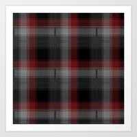 Black, Red, Lumberjack P… Art Print