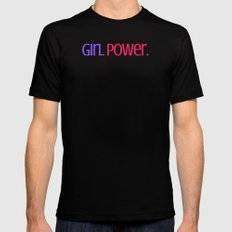 Girl Power. Mens Fitted Tee Black SMALL