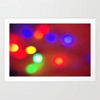 Colourful Lights Art Print