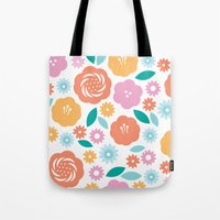 Cheerful Florals Tote Bag