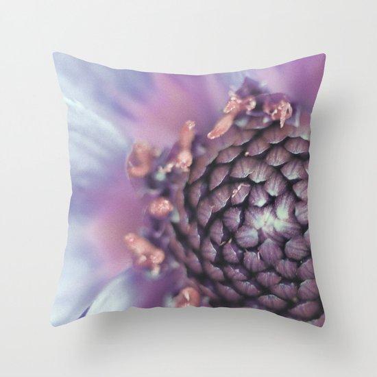 Violett Flower Throw Pillow
