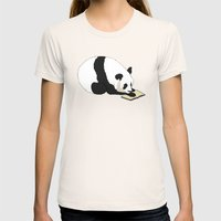 Reading Panda Womens Fitted Tee Natural SMALL